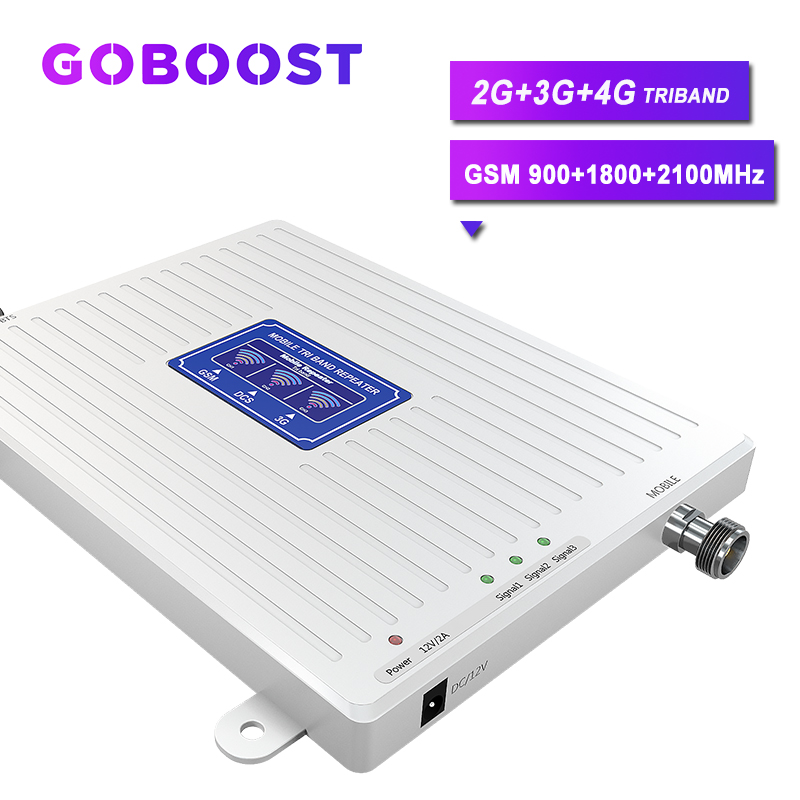GSM 900MHZ 2G 3G 4G Cellular Amplifier For Mobile Phone Cellular Signal Booster Triband GSM 900 1800 2100 LTE DCS 4G UMTS 70dB #