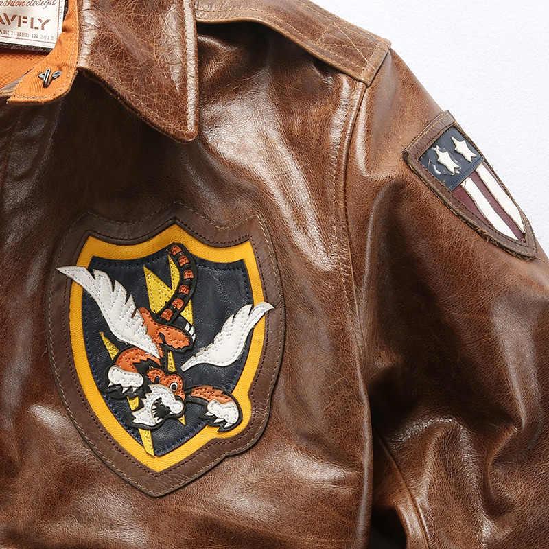 Новинка 2019, мужская куртка A2 Air Force AVFLY из натуральной кожи, мужская куртка-бомбер из натуральной коровьей кожи, Мужская мотоциклетная кожаная куртка