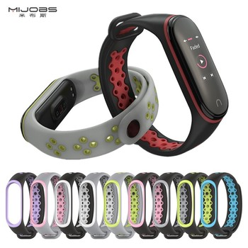 New Sport For Mi Band 3 4 Strap wrist sport Silicone Bracelet for band smart watch bracelet Xiaomi mi strap