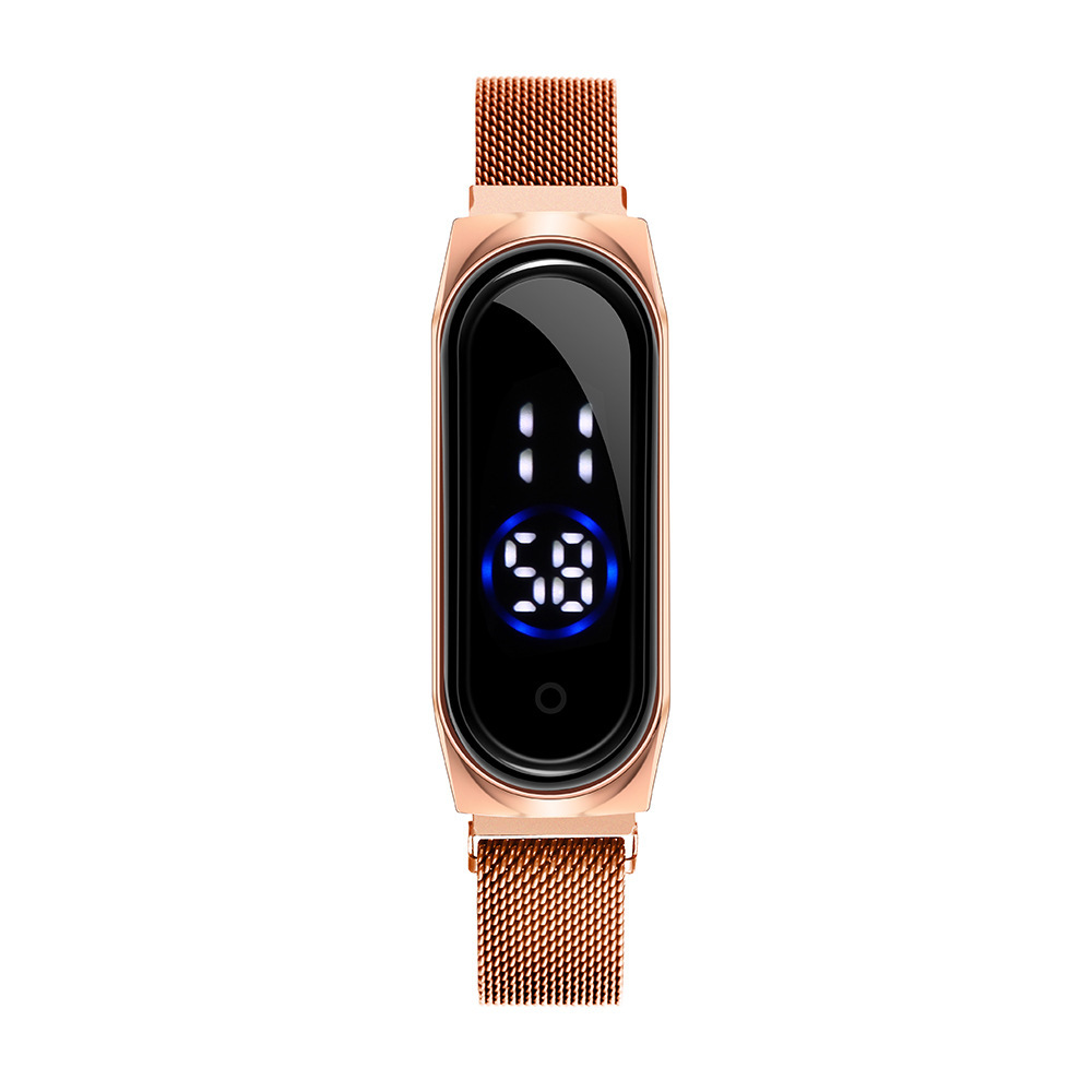 2020 New Led Women Men Watch Fashion Touch Screen Women Wristwatch Magnet Band Sport Lovers Watches