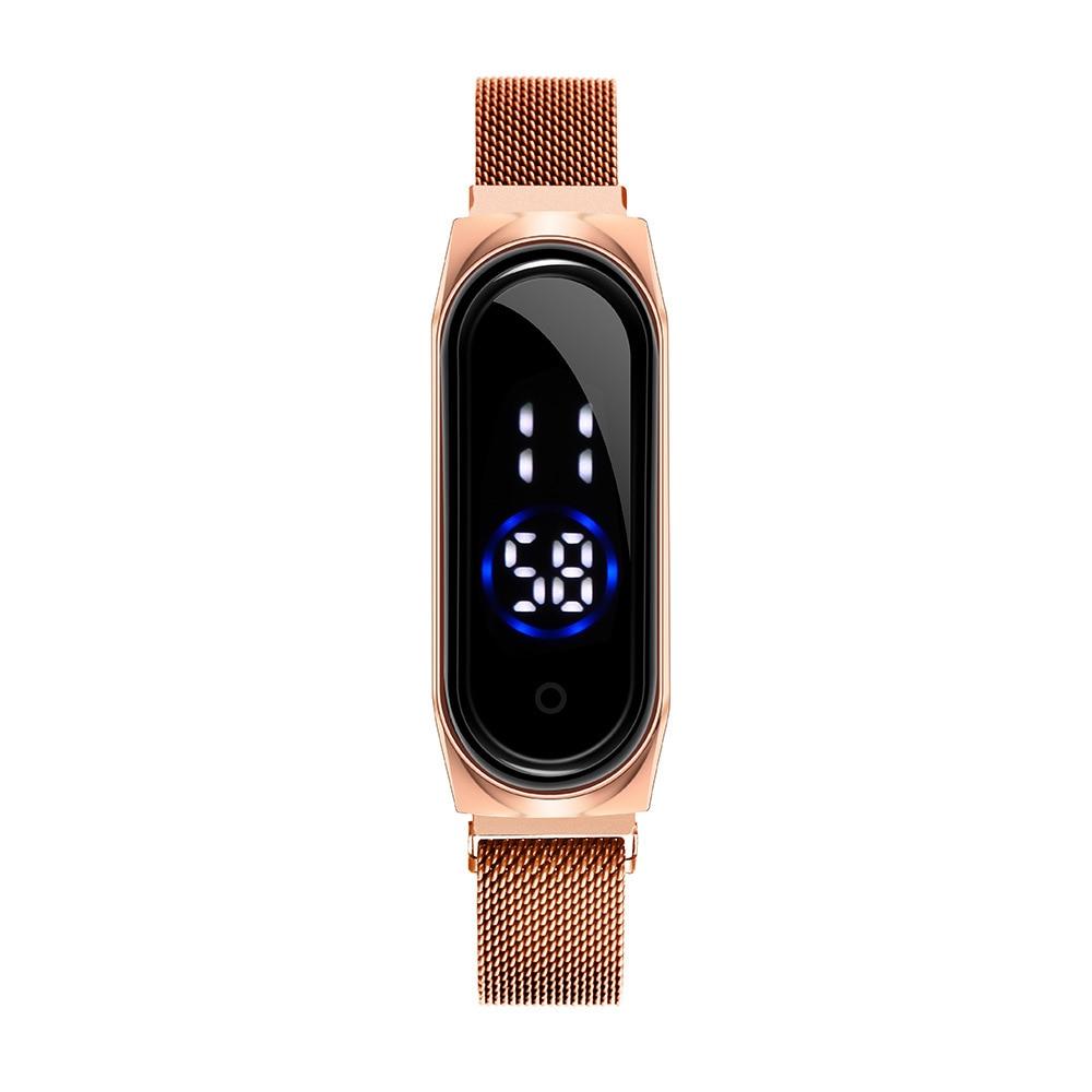 2020 New Led Women Men Watch Fashion Touch Screen Women Wristwatch Magnet Band Sport Lovers Watches