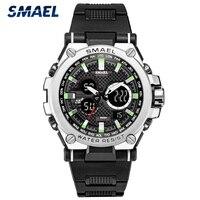 SMAEL 2021 Männer Uhren Militär Sport Uhr Männer Chronograph Wasserdichte Silikon Armee Uhr Männlichen Uhr Relogio Masculino