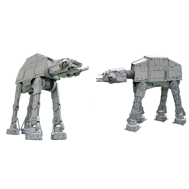 20cm Length All Terrain Armored Walker AT-AT 3D Paper Model Paper craft Toys 1