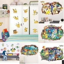 Get more info on the Cartoon 3d Vivid Pokemon Wall Sticker Childrens Bedroom Mural  Kids Nursery Decor DIY Home Decal Wallpaper Mural
