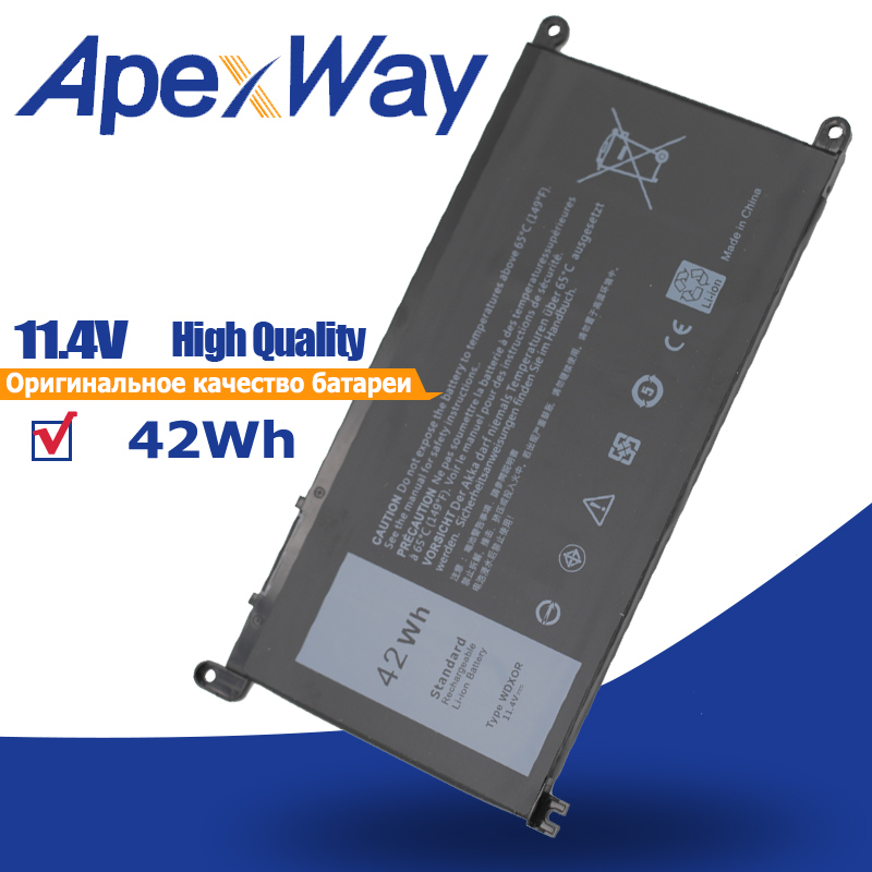 ApexWay 42Wh 3CRH3 WDX0R T2JX4 WDXOR  Laptop Battery For  Dell  Inspiron  15MF  13MF  INS15-7560 14-5468D 15 5568   14-5468D