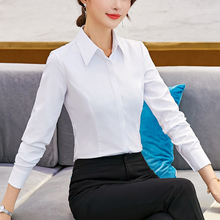Women Shirts Korean Fashion Woman White Shirt Plus Size Elegant Cotton V-neck Womens Tops and Blouses