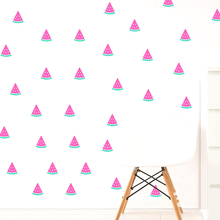 Арбуз Наклейка на стену 2 цвета арбуз наклейка арбуз Наклейка на стену Детская комната Наклейка домашний декор