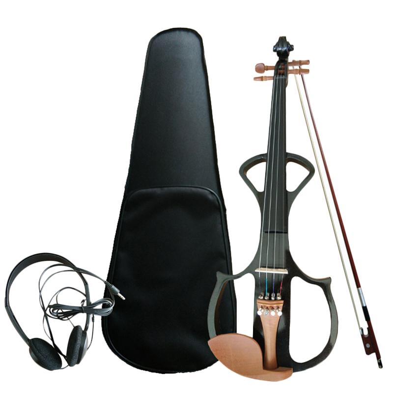 4/4 Electric Acoustic Violin Jujubewood Fiddle with Violin Case Cover Bow for Musical Stringed Instrument Lovers Beginners