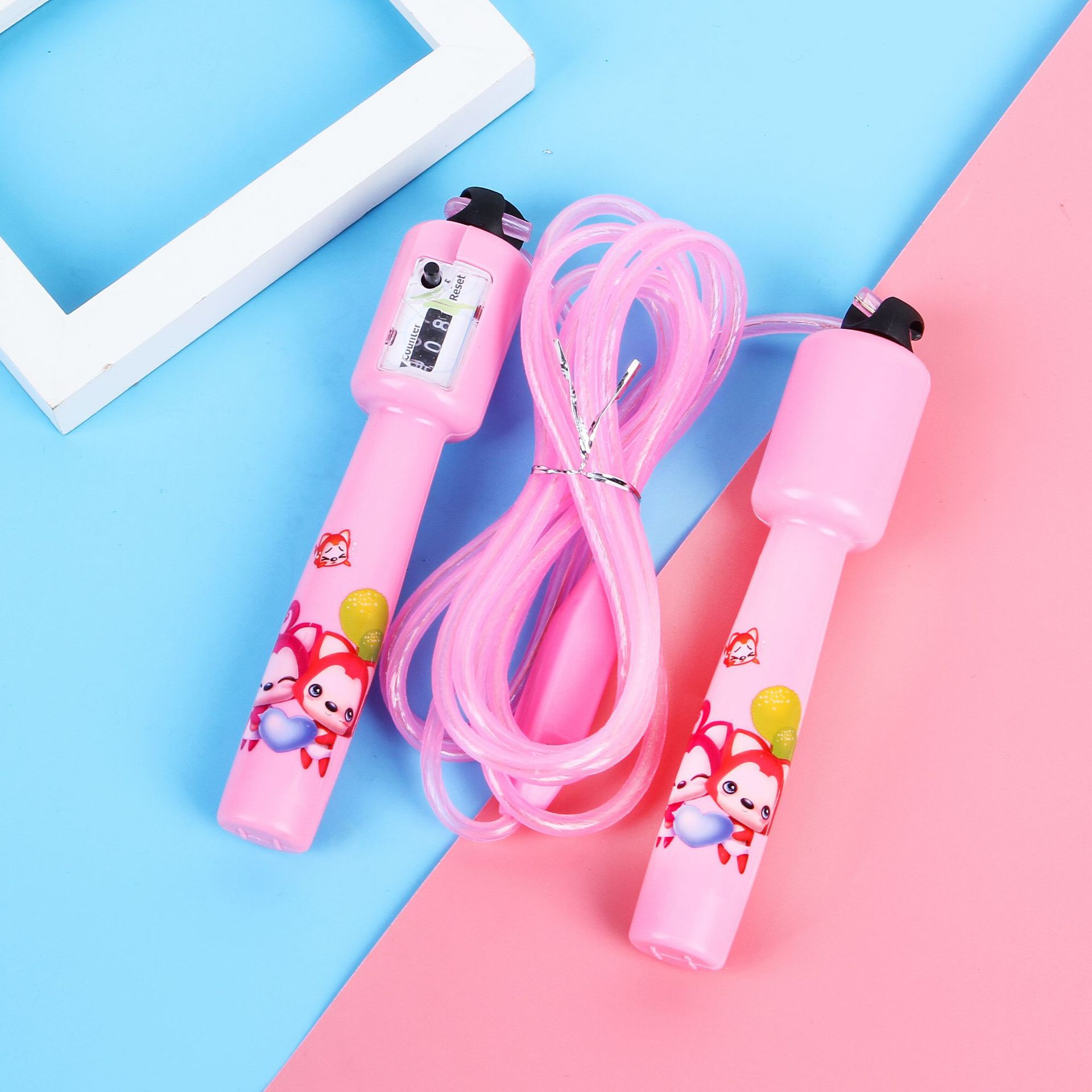 Wonyou Profession Shining Colorful Cartoon Handle Count Children Jump Rope Kids' Fitness Equipment Toy Manufacturers Direct Sell