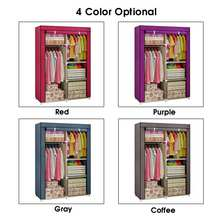 New Multi purpose Non woven Cloth Wardrobe Fabric Closet Portable Folding Dustproof Waterproof Clothing Storage Cabinet