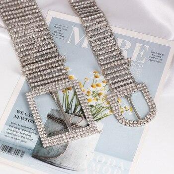 [LFMB]luxe brillant pleine strass incrusté femmes ceinture mode femme mariée large Bling cristal diamant taille chaîne ceintures 8
