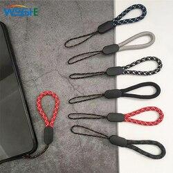 Lanière courte de courroie de téléphone portable pour des clés lanière universelle de prise de téléphone portable de carte d'identité 6 couleurs courroie résistante à l'usure de corde tenue dans la main