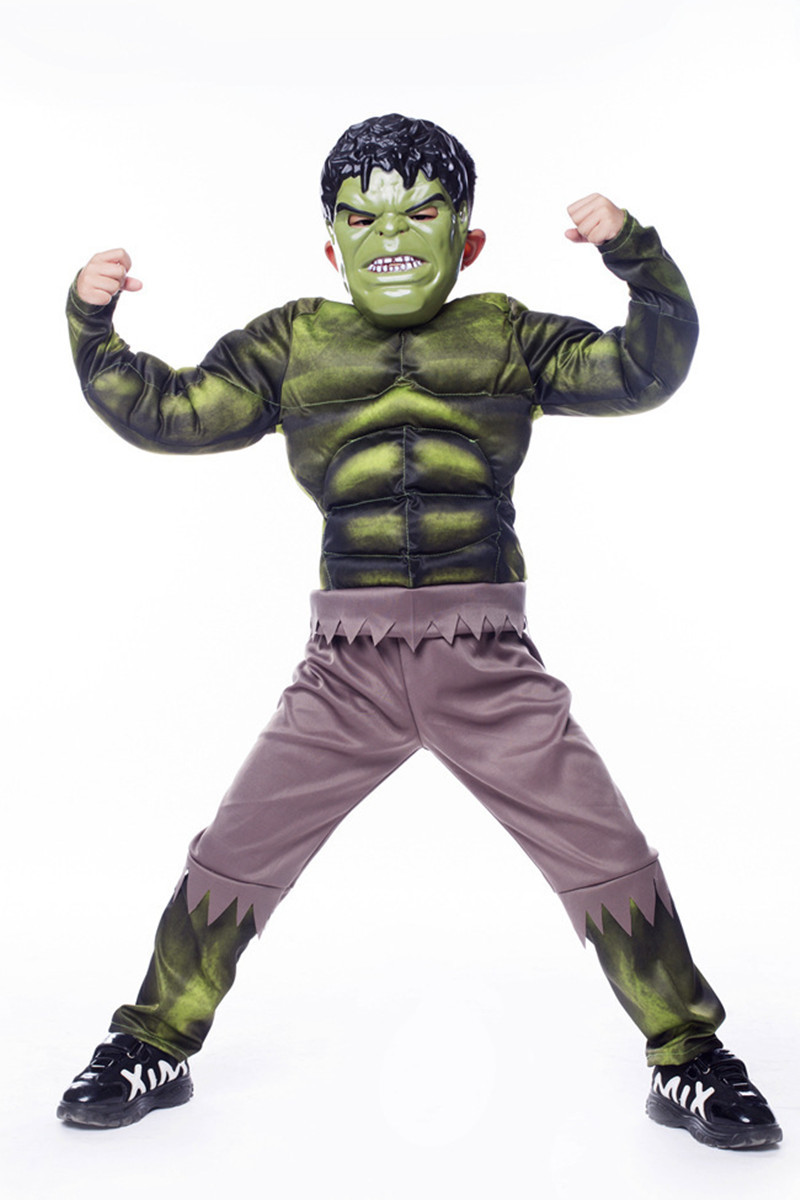 Green Endgame Hulk Children's Muscle Clothing / Makeup / Halloween Carnival Party Cosplay Anime Masquerade Performance Costume