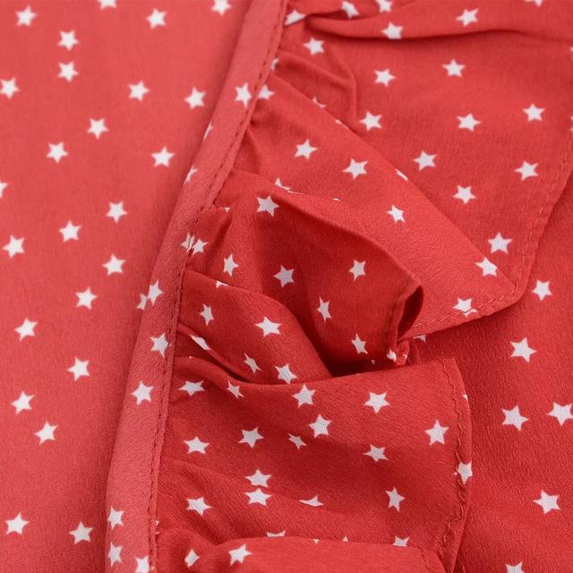 Mujeres verano Boho estilo vestido estrella volantes chifón vestido Casual mini vestido veraniego Vestidos con fajas para fiesta