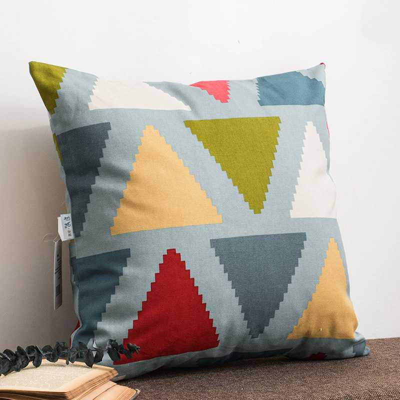 Drop Shipping Modern Geometry Pillow Cover Cotton Linen Colorful Bohemia Plaid Stripe Pillowcase Living Room Home Decoration in Cushion Cover from Home Garden