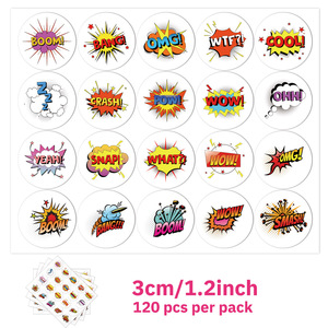 100 Pcs Cute Reward Stickers 20 Designs ''Wow' Cool' Word Stickers For Kids Stickers For Students Teachers Stationery Labels