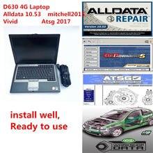 2020 venda quente todos os dados 10.53 software de reparação automóvel alldata mit//chell od 2015 atsg vivid 4in1 1tb hdd instalado no portátil d630 4g
