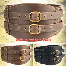 Mercenary Large leather poutch in leather for LARP action roleplaying and cosplay