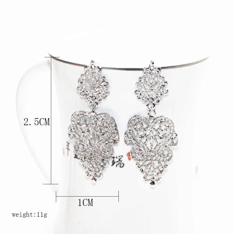 Carter Lisa Fashion Desain Asli Orebellen Orecchini Brincos Bohemian Liar Liontin Drop Anting-Anting Perhiasan Pengantin untuk Wanita