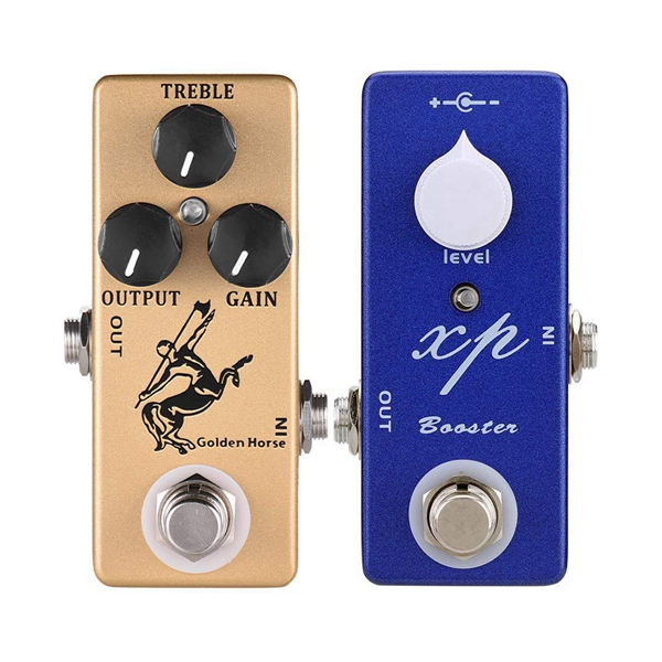 Dropship-MOSKY Horse Guitar Effect Pedal Overdrive Guitar Pedal Full Metal Shell True Bypass Guitar Parts Gold & Mosky XP Booste