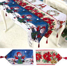 1PC Christmas Table Flag Creative Tablecloth Dinner Cover Home Decorations for Outdoor Party Restaurant