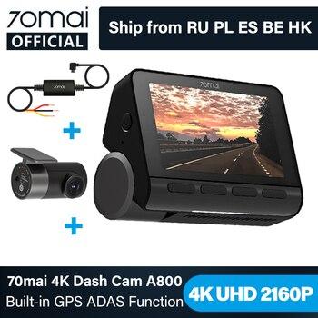 70mai A800 4K Car DVR Dual Vision Cam with Built-in GPS ADAS 70mai 4K Dash Cam A800 UHD 24H Parking Monitior 70mai Camera 140FOV
