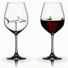 Goblet Whiskey Flutes-Glass Crystal Dinner-Decorate Wine-Bottle-Design Shark Party Handmade