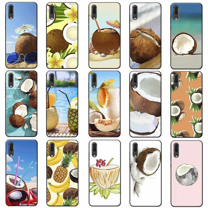 Fruit Coconut on the beach Soft Silicone Phone Case for huawei honor 9x pro 8x 10 20 10 lite  20 pro