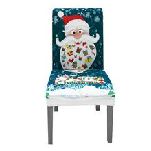 Christmas Digital Printing Chair Cover Spandex Stretch Elastic Slipcovers Chair Covers Dining Room Kitchen Wedding Banquet Hotel 50pcs washable universal white elastic strong stretch spandex slipcovers chair cover for wedding party banquet decoration