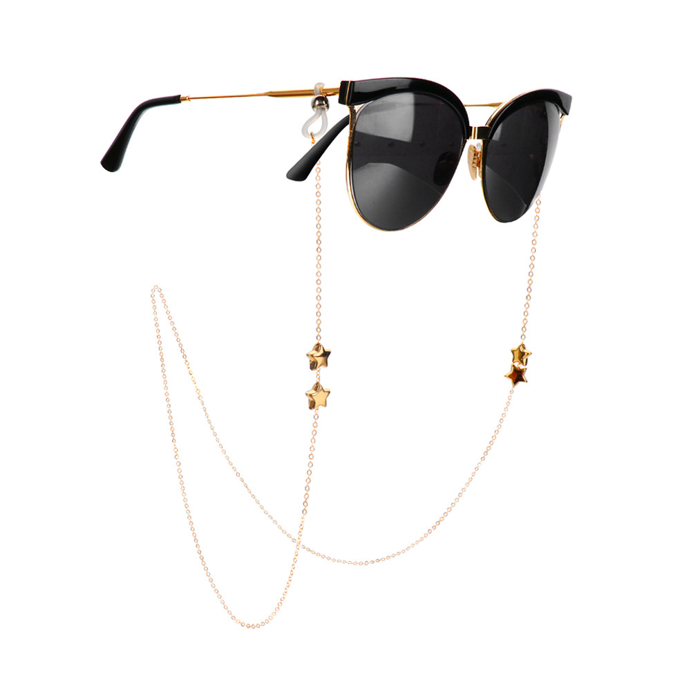 Fashion Womens Gold Eyeglass Chains Stars Sunglasses Reading Glasses Chains  Eyewear Cord Holder Lanyard Necklace For Glasses Accessories Eyeglasses  Chains Glasses Chains & Lanyards Eyewear & Accessories