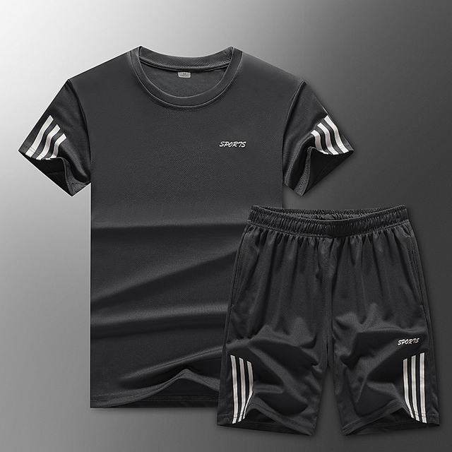 Loose Men's Sport Suits Quick Dry Running sets Clothes New Sports Joggers Training Gym Fitness Jogging Tracksuits large size 3