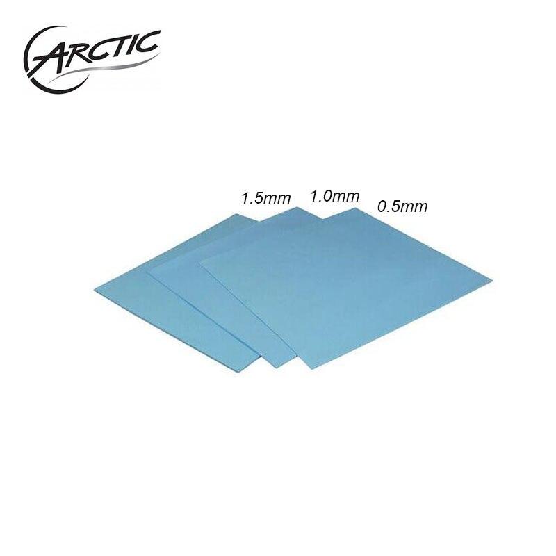 Almofada térmica original do ártico 6.0 com condutibilidade do mk 0.5mm 1.0mm 1.5mm almofada térmica 145*145mm adesivo termicamente condutor