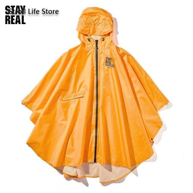 Yellow Rain Poncho Raincoat Women Cute Orange Waterproof Poncho Rain Coat Jacket Hiking Impremiable Motorcycle Raincoat Gift 4