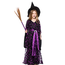 Girl Moon Star Fly Witch Costume Dress Hat Cap Party Halloween Cosplay Clothing