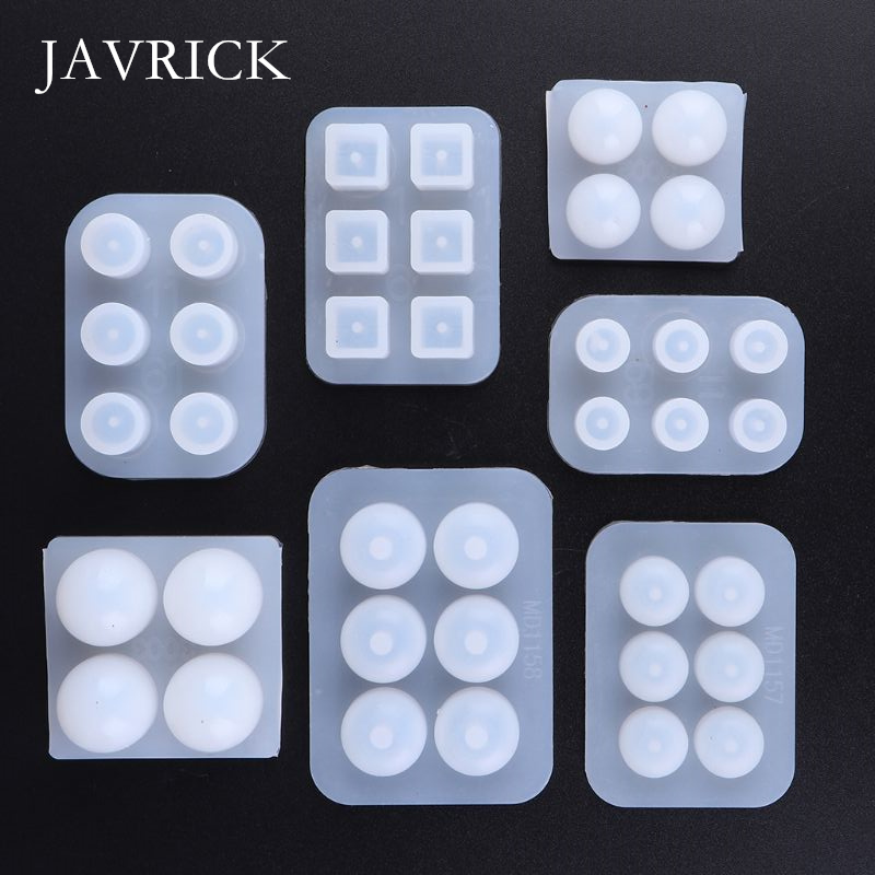 1 Set UV Resin Silicone Mould DIY Handmade Beads Epoxy Mold Craft Tool DIY Pendant Accessories Jewelry Making Tool