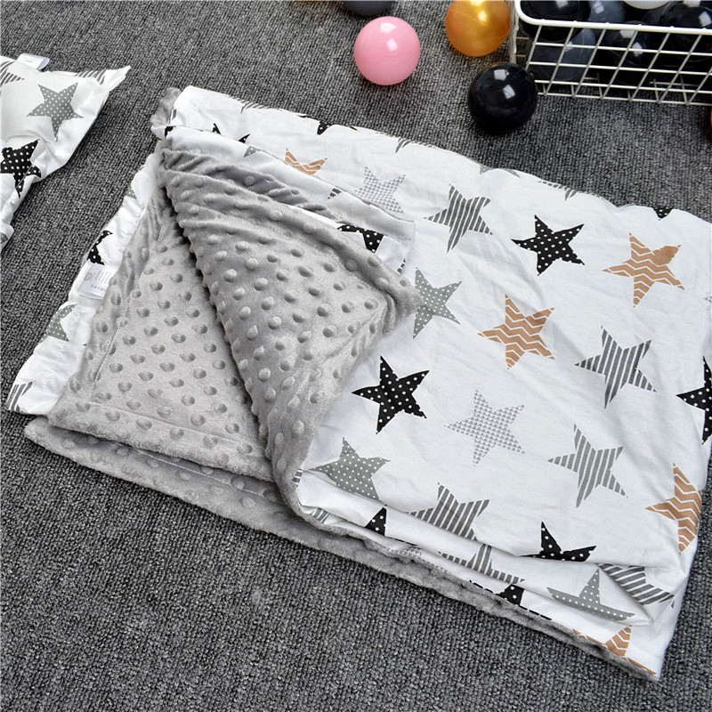 Baby Blankets Swaddling Velvet Blanket Newborn Baby Winter Toddler Sleeping Swaddle Nursing Cotton  YCZ033