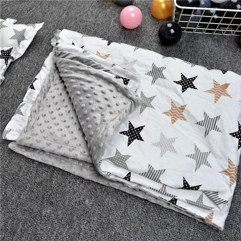 Baby Blankets Swaddling Velvet Blanket Newborn Baby Winter Toddler Sleeping Swaddle Nursing Cotton  YCZ033