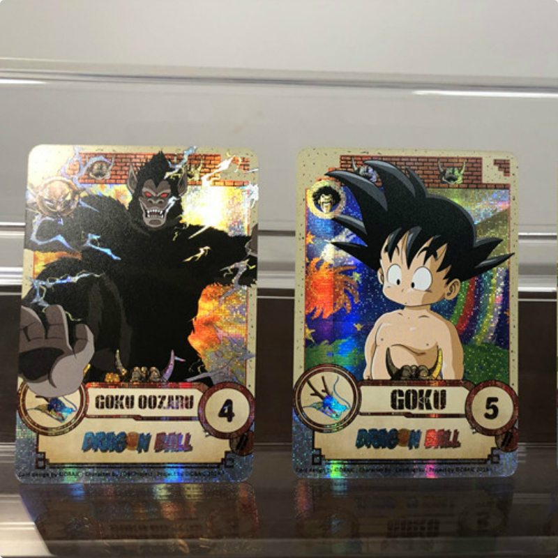 28pcs/set Dragon Ball Z Super Saiyan Goku Vegeta Game Action Figures Commemorative Edition Collection Cards Free Shipping Limit