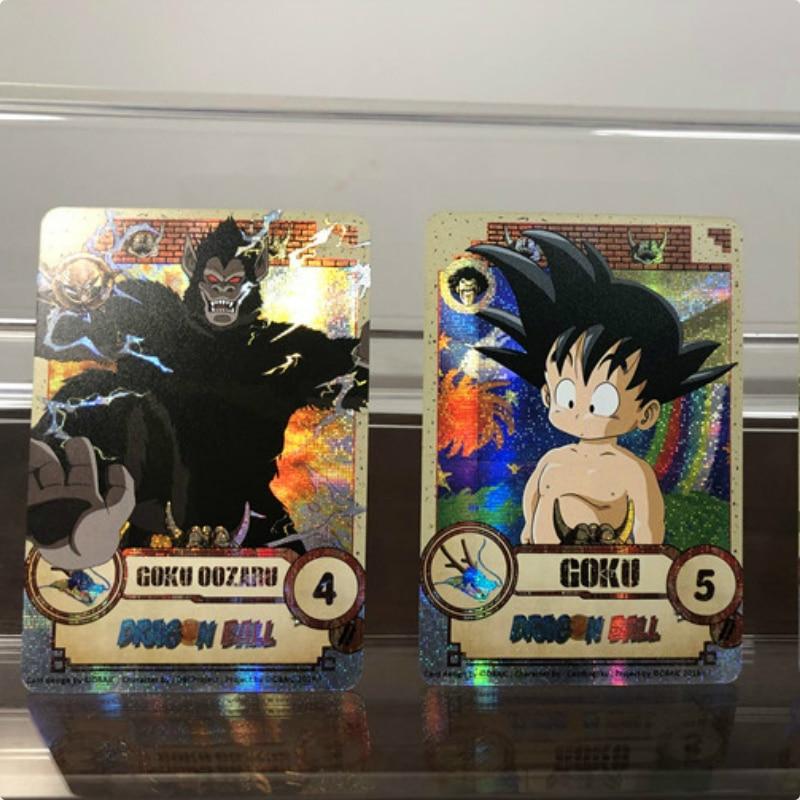 28pcs/set Dragon Ball Z Super Saiyan Goku Vegeta Game Action Figures Commemorative Edition Collection Cards Free Shipping Limit