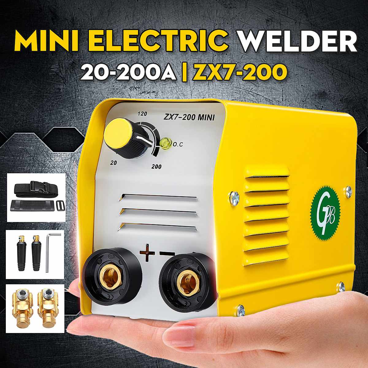 220V Handheld Mini MMA Electric Stick Welder ZX7 200 Insulated Electrode Inverter Arc Force Metal Welding Machine Portable Tool|Arc Welders| - AliExpress