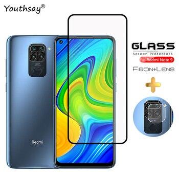For Xiaomi Redmi Note 9 Glass Screen Protector Full Glue Tempered Glass Film For Xiaomi Mi Poco X3 Glass For Redmi Note 9 makibes toughened glass screen protector film for xiaomi redmi note 2