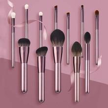 12pcs Makeup Brushes Set Soft Synthetic Brushes Set Metallic Pink beauty Make up brush  blush Powder Foundation Eyeshadow brush