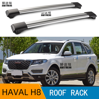 2Pcs Roof bars For Great Wall - HAVAL H8 SUV [2013-2019] Aluminum Alloy Side Bars Cross Rails Roof Rack Luggage load 100KG SUV