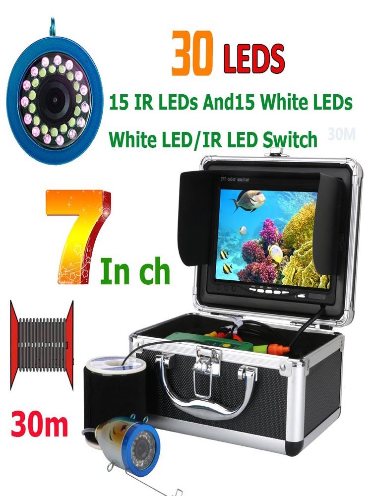 Fishing-Camera Leds GAMWATER 15-Infrared-Lamp White Ice/Sea-Fishing 1000TVL 50M 30M