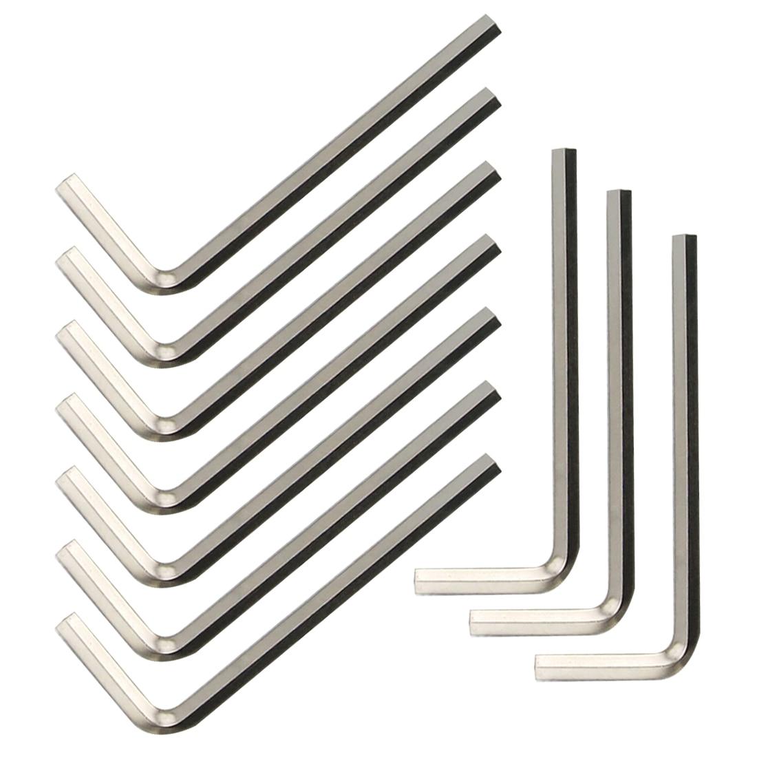 Allen Key M1.5 1.5mm Hex Tool Qty 50 BLACK ALLOY STEEL  Metric Short Arm
