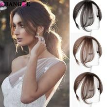 Shangke feminino cabelo sintético franja 3d franja grampo de cabelo em extensão do cabelo resistente ao calor falso cabelo franja parte do meio franja