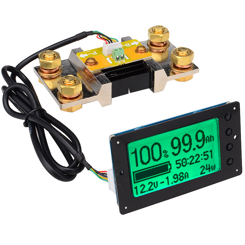 BMBY TF03 100V 500A Универсальный Батарея Ёмкость тестер Напряжение индикатор Тока Панель кулона метр кулонометр