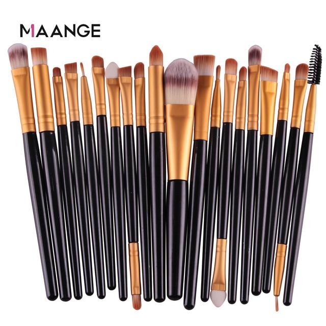 MAANGE 6/15/20 Pcs Makeup Brush Set Eyeshadow Blending Foundation Powder Eyebrow Blush Double Head Brush Beauty Make Up Kit Tool 4