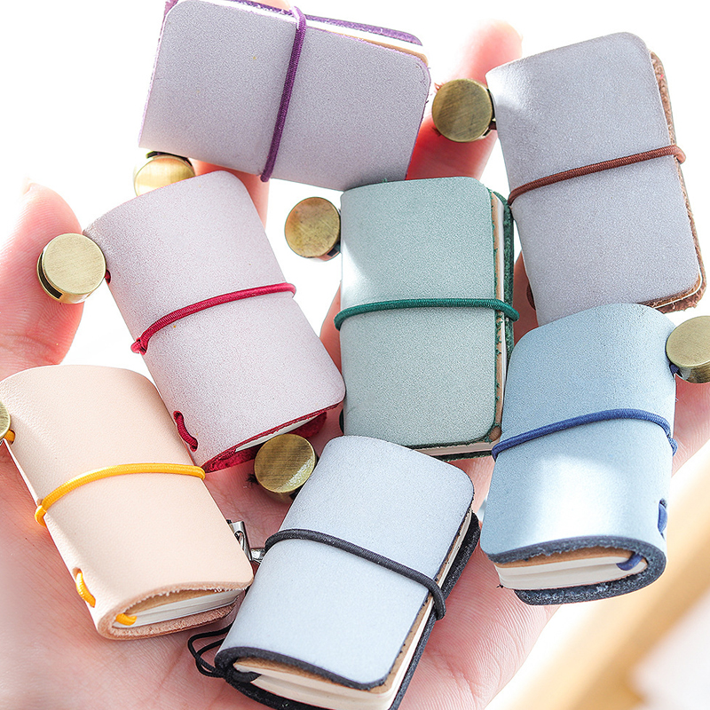 Mini Portable Leather Memo Pad Handmade Leather Cover Memo Pad Journal Booklet Gift