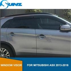 Acrilico Finestra Vento Deflettore Visiera Pioggia Sun Guard Vent Per Mitsubishi ASX 2010 2011 2012 2013 2014 2015 2016 2017 2018 SUNZ